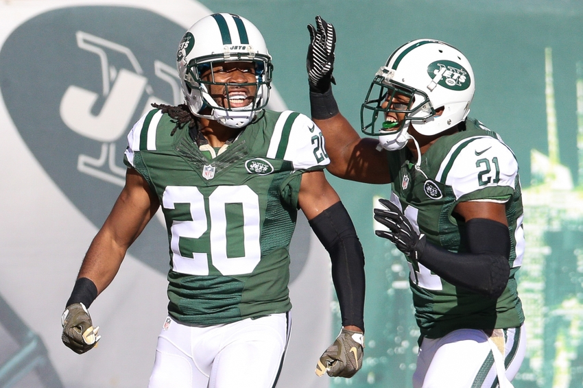 New York Jets cornerback Marcus Williams celebrates with free safety Marcus  Gilchrist in a victory. b2969d3b6